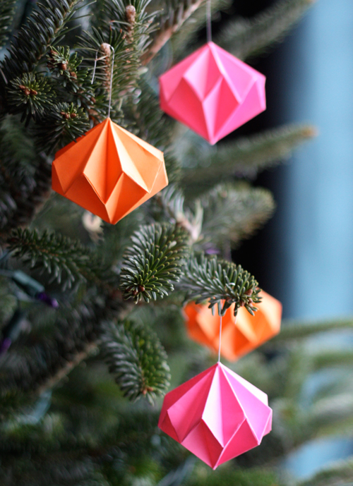 (2) origami-diamond-ornaments
