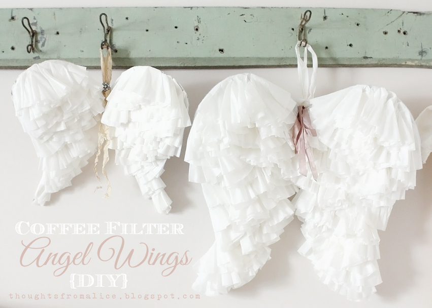 (9) Coffee Filter Angel Wings DIY Tutorial